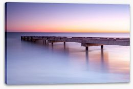 Jetty in the dawn Stretched Canvas 68730155