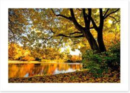 Autumn park glow Art Print 68872066