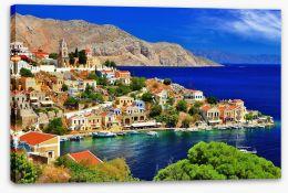 Blue waters of Symi island, Greece