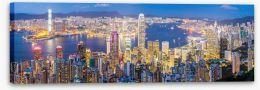 Hong Kong skyline at dusk Stretched Canvas 69031785