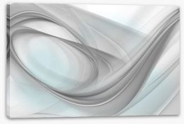 Soft swirling grey Stretched Canvas 69119602