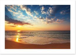 Sunbeam over the sea Art Print 69142693