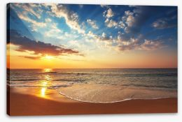 Sunbeam over the sea Stretched Canvas 69142693