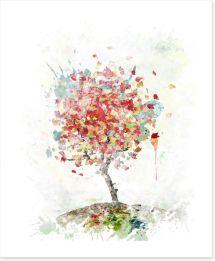 Falling leaves Art Print 69541077