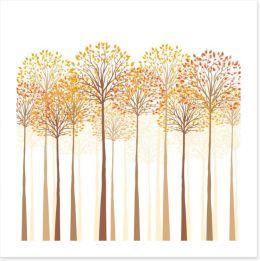 Autumn trees Art Print 69579622