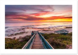 Stunning beach sunset, Perth