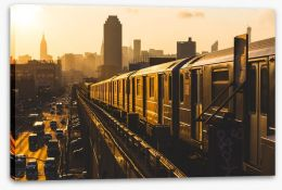 Sunset subway Stretched Canvas 69824143