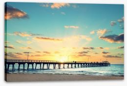 Adelaide sunset Stretched Canvas 70515619