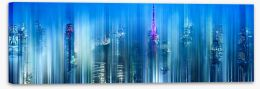 City lights Stretched Canvas 70582097