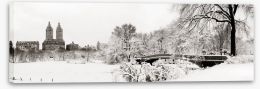 Central Park winter Stretched Canvas 70674662