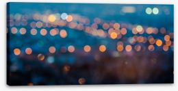 Blurring lights bokeh Stretched Canvas 70794726