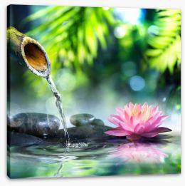 Zen water garden Stretched Canvas 70803571