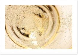 Champagne bubbles Art Print 71213275