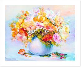 Spring wildflowers in a vase Art Print 71477772