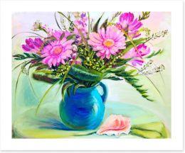 Pink gerberas in vase