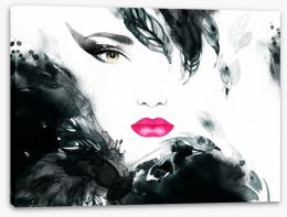 Armed with pink lipstick Stretched Canvas 71596493