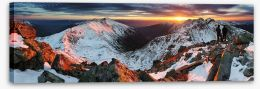 Last rays over the peaks Stretched Canvas 71730310