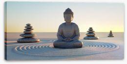 Rock garden buddha Stretched Canvas 72204483