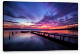 Violet sunset Stretched Canvas 72659093