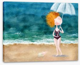 Raindrops on the beach Stretched Canvas 72789150