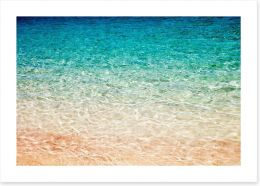 Pink sand water ripples