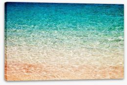 Pink sand water ripples Stretched Canvas 72823005