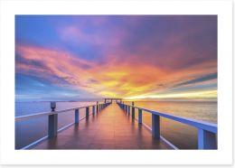 Sunrise over the jetty Art Print 73274993