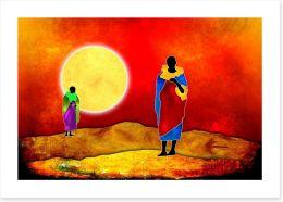 African Art Art Print 75203905