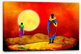 African Art Stretched Canvas 75203905