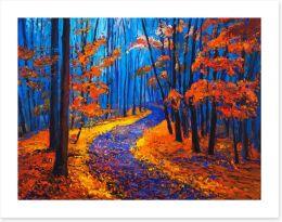 Autumn forest path Art Print 75257553