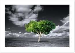 The green tree Art Print 75661317