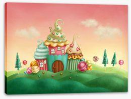Candyland castle Stretched Canvas 76244202