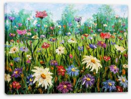 Spring wildflower meadow Stretched Canvas 76354753