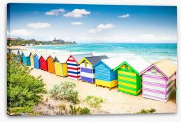 Brighton beach bathing houses Stretched Canvas 77479612