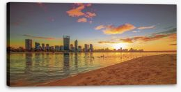 Golden Perth sunrise Stretched Canvas 77854831