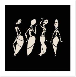 African Art Art Print 77931141