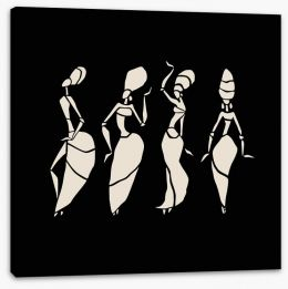 African Art Stretched Canvas 77931141