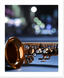 Saxophone blues Art Print 78014017