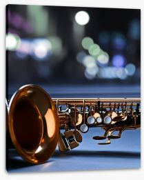 Saxophone blues Stretched Canvas 78014017