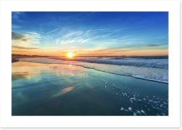 Sunset blues Art Print 78044983