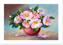 Pink wild roses Art Print 78632887