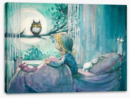 Moonlight friends Stretched Canvas 78647209