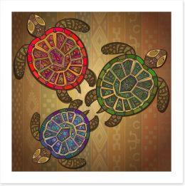 Decorative turtles Art Print 78678453