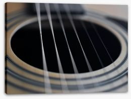 Guitar strings Stretched Canvas 79022902