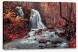 Vibrant autumn falls Stretched Canvas 79413489