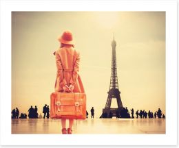 Paris awaits Art Print 79524539