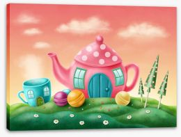 Candyland teapot Stretched Canvas 80001010