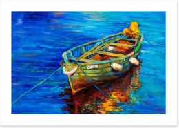 Bobbing in the sea Art Print 80061614