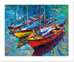 Three fishing boats