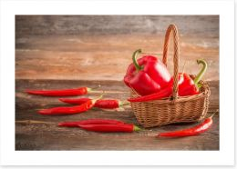 Red chilli peppers Art Print 80252224